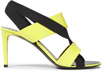 Balenciaga Neon Leather Sandals