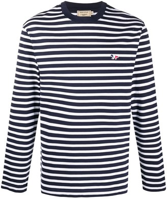 MAISON KITSUNÉ striped long-sleeve T-shirt