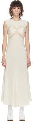 Simone Rocha Off-White Silk Slip Dress