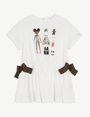 Fendi Graphic print cotton T-shirt dress 6-24 months