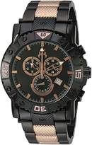 Jivago Men's 'Titan' Swiss Quartz Stainless Steel Casual Watch, Color:Two Tone (Model: JV9127XL)
