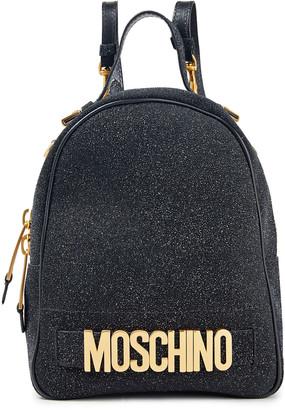 Moschino Glittered Leather Backpack