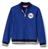 Lands' End Little Boys Knit Baseball Jacket-Rich Sapphire
