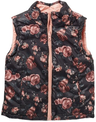 Urban Republic Reversible Quilted Vest (Toddler & Little Girls)