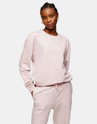 Topshop acid wash sweatshirt in pink