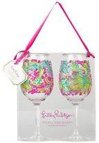 Lilly Pulitzer Spot Ya Acrylic Wine Glass Set of 2