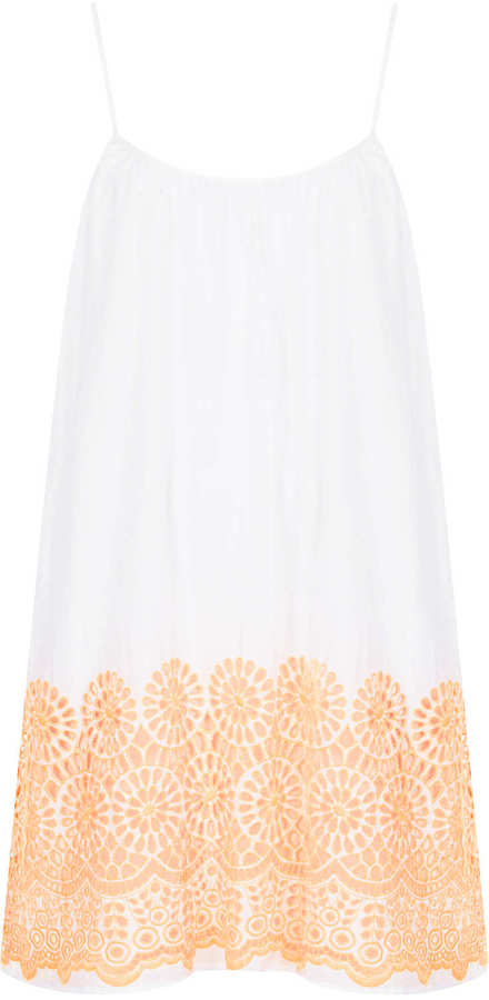 Topshop White Broderie Daisy Cover Up