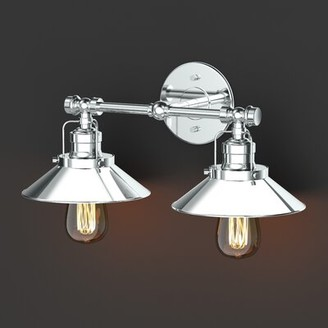 Gatco Farmhouse 2 - Light Dimmable Armed Sconce Finish: Chrome