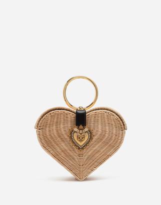 Dolce & Gabbana Devotion Bag In Wicker