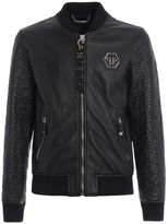 Philipp Plein Sensei Leather Bomber