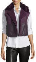 Elie Tahari Lana Cropped Lamb Shearling Vest