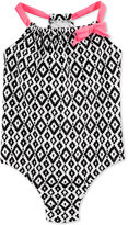 Carter's Little Girls' One-Piece Geometric-Print Swimsuit