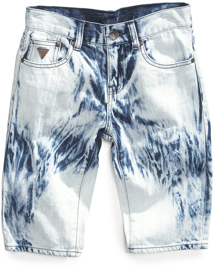GUESS Boys' Tie-Dye Denim Shorts