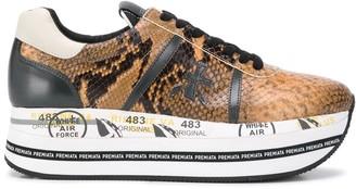 Premiata Beth reptile platform sneakers