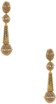 Oscar de la Renta Beaded Drop Earring