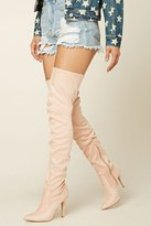 Forever 21 FOREVER 21+ Faux Suede Thigh-High Boots