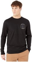 Salty Crew Fishstone Premium Long Sleeve Tee (Black) Men's T Shirt