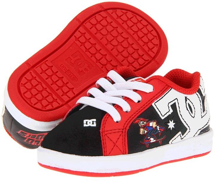DC Kids - Court Graffik Elastic UL WG (Toddler) (Black/Red) - Footwear