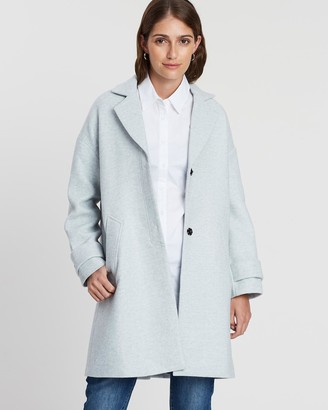 Privilege Belted Back Wool Trench