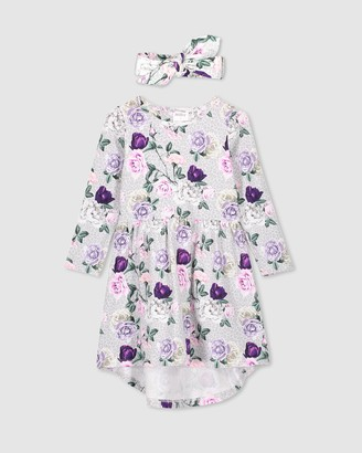 Milky Rosebloom Dress & Headband Set - Kids