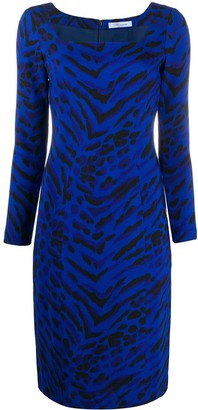 Blumarine Zebra Print Dress