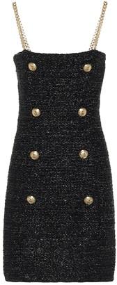 Balmain Exclusive to Mytheresa Metallic tweed minidress
