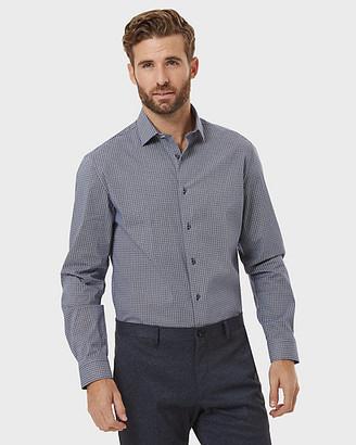 Le Château Geo Print Cotton Poplin Tailored Fit Shirt