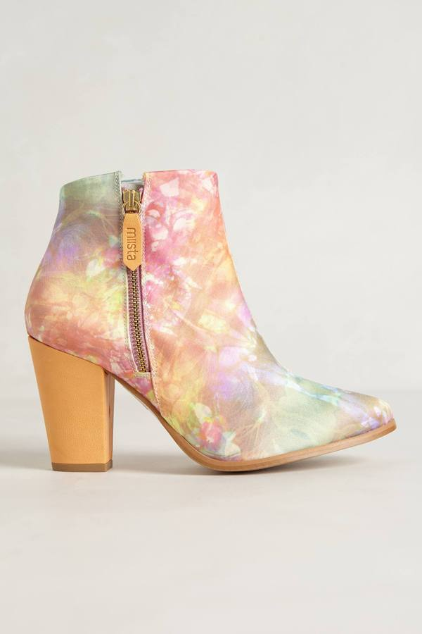 Anthropologie Galaxy Inlay Booties