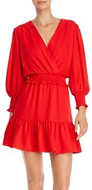 Amanda Uprichard Loralee Smocked & Gathered Mini Dress