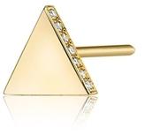 SMITH + MARA 14K Diamond Triangle Stud
