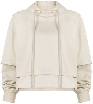 Rick Owens Double-Layer Cotton Hoodie