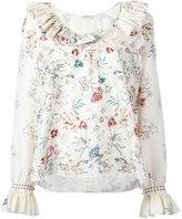 Vilshenko Skye floral print blouse