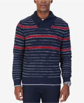 Nautica Men's Stripe Shawl-Collar Sweater