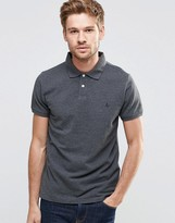Jack Wills Polo Shirt With Pheasant Logo In Gray