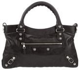 BALENCIAGA - Leather handbag