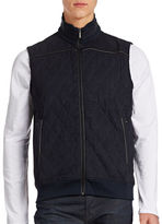 Bugatti Mixed-Media Zip Vest