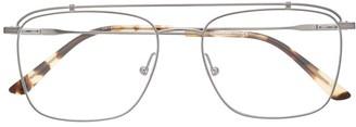 Calvin Klein Aviator-Style Double-Bridge Glasses