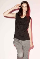 LnA Drape Neck Tank in Black