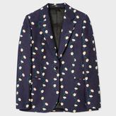 Paul Smith Women's Navy Cotton Blazer With 'Daisy-Chain' Print