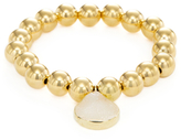 Meira T Brass Bead & Druzy Stretch Bracelet