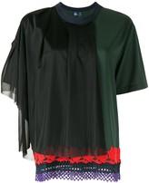 Kolor layered lace detail T-shirt