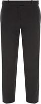 Balenciaga Satin-stripe crepe trousers