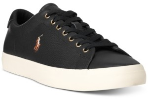 Polo Ralph Lauren Men's Perforated Leather Longwood Sneaker Men's Shoes