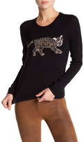 Alice + Olivia Beaded Crewneck Wool Sweater