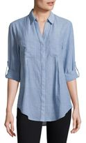 Lord & Taylor Petite Nancy Button-Front Shirt