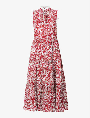See by Chloe Floral-print cotton midi dress