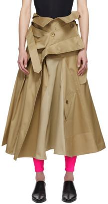 Junya Watanabe Beige Trench Coat Skirt