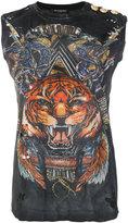Balmain tiger print tank top