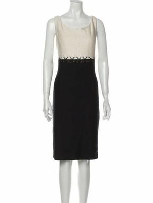 St. John Wool Knee-Length Dress w/ Tags Wool