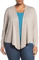 Nic+Zoe Plus Size Women's '4-Way' Three Quarter Sleeve Convertible Cardigan